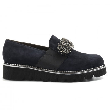 slip on woman alfredo giantin 6419cam blu 5117