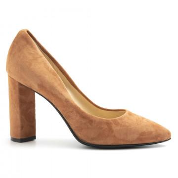 pumps woman larianna de 1002camoscio cognac 5070
