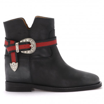 booties woman via roma 15 3013malibu nero 4311