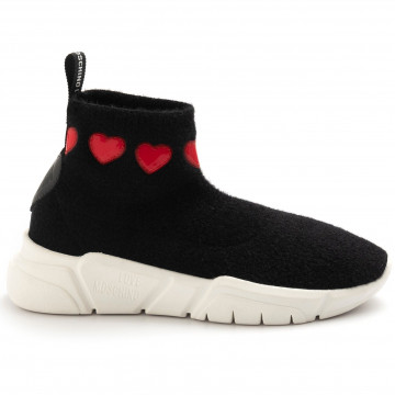 sneakers woman love moschino ja15323g18 iyo 000 nero 4987