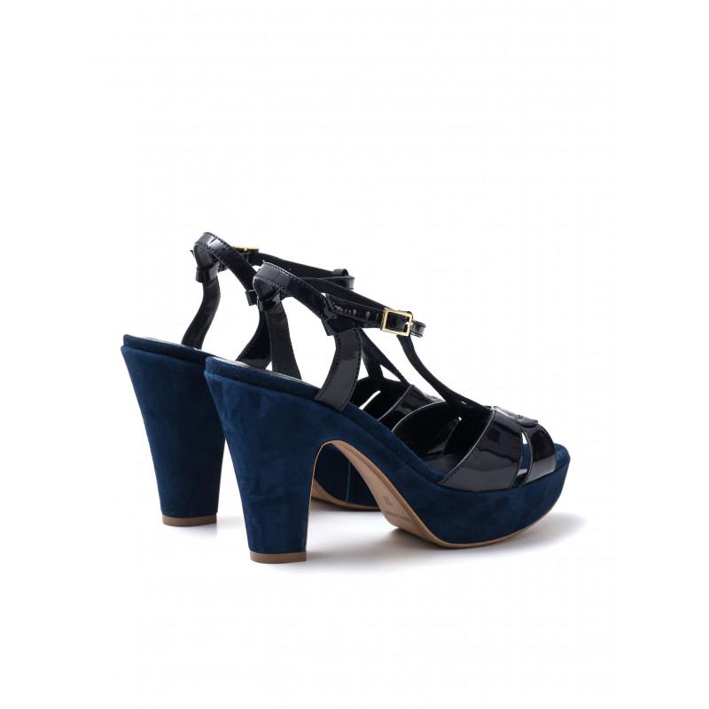 sandals woman silvia rossini 985 3720 vernice blu cam navy 476