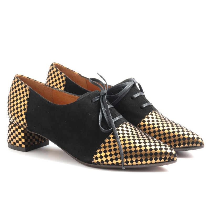 lace up woman chie mihara rolynegro 6134