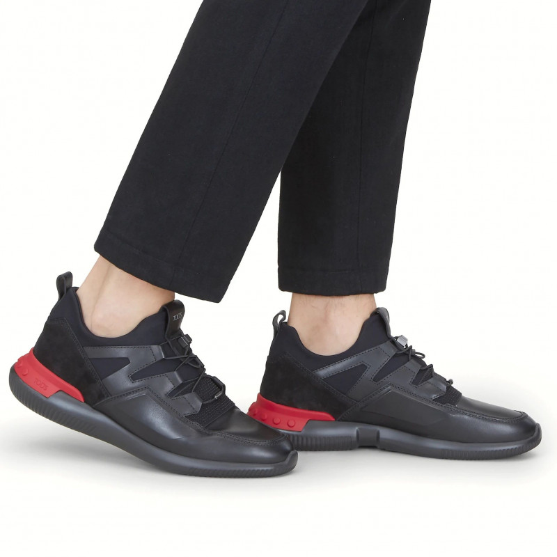 No Code 03 black and red sneakers