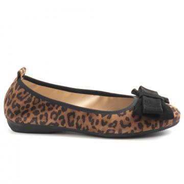 la ballerina by sonja ricci in leopard print suede
