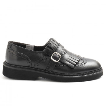 slip on woman sangiorgio d608montone nero 6247