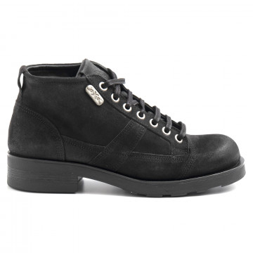lace up ankle boots man oxs frank 1900 msuede dark grey 6328