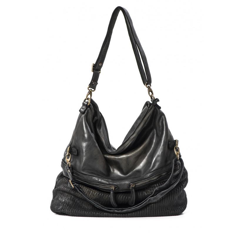handbags woman reptiles house h 327 calf moon nero metal 500