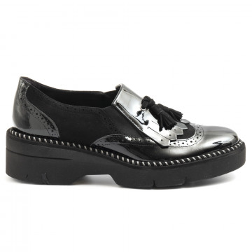 slip on woman luca grossi e385vern nera 6418