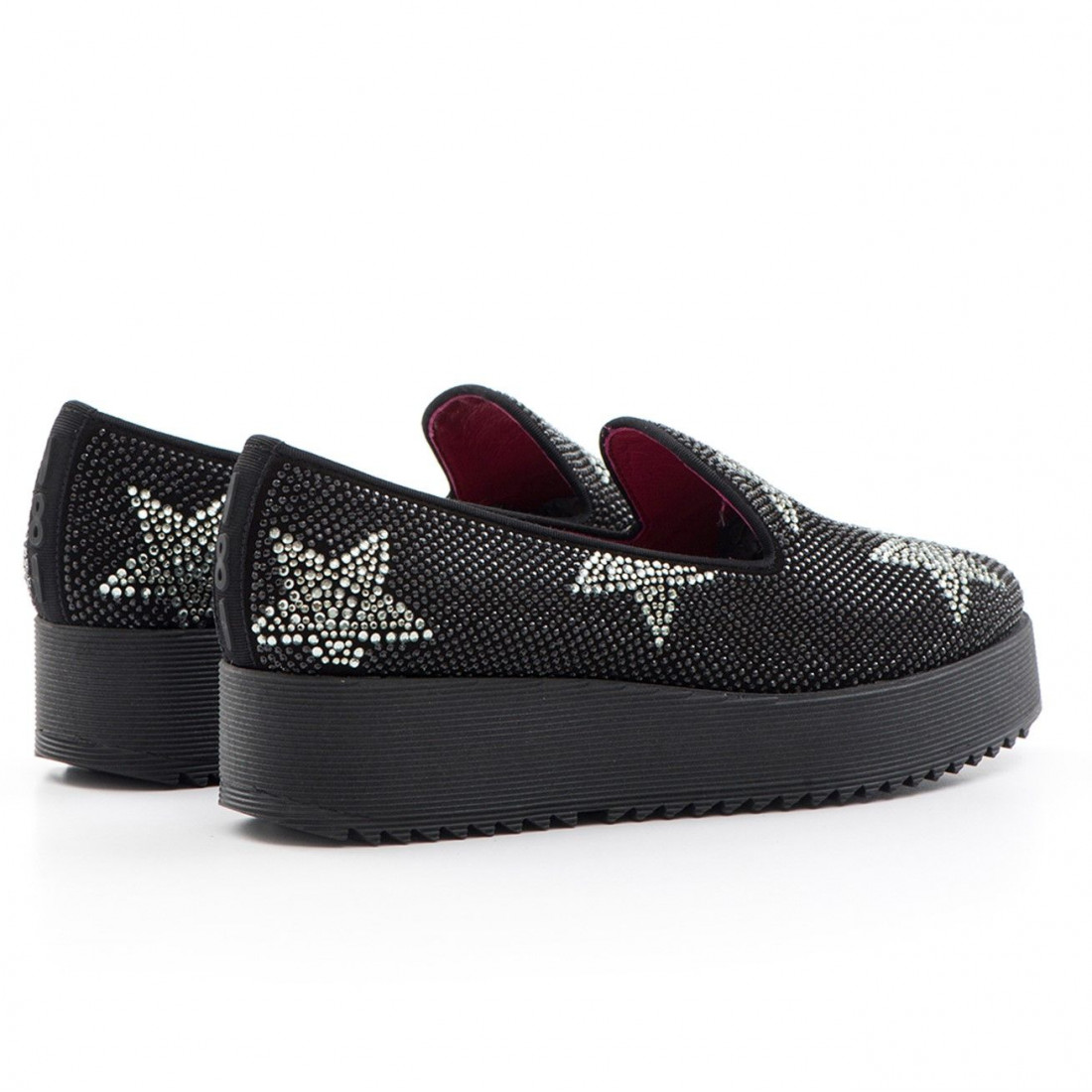 slip on woman 181 manitu suede blkstar blkdiam 1159