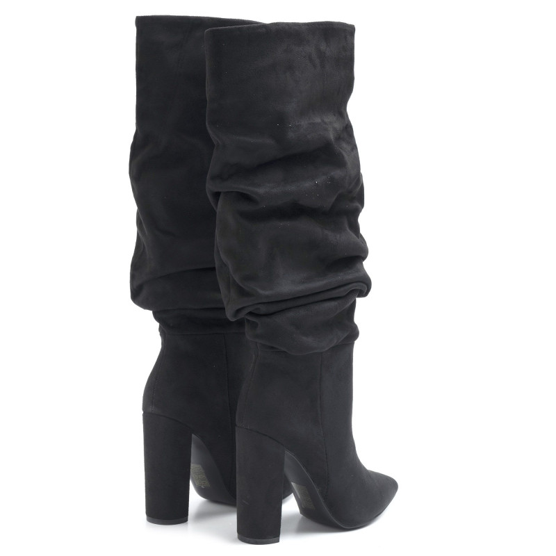 Black suede Steve Madden Slouch boots