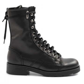 military boots woman oxs frank 1902 wleather black 6329