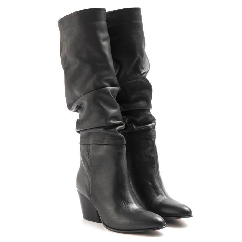 boots woman sangiorgio 6347piuma nero 6513