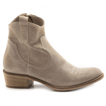 booties woman keb 303rsuede taupe 6861