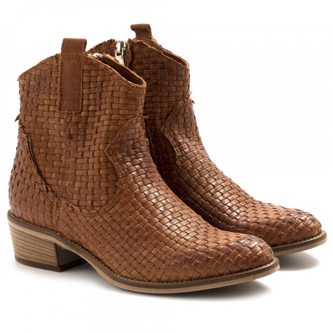 booties woman keb 303itop cuoio 6862
