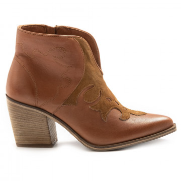booties woman keb 204top cuoio 6863