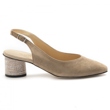 pumps woman brunate 50992cam nut gallic 6887