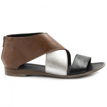 sandals woman le bohemien s229 4nero argento 6910