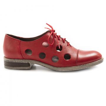 schnrschuhe damen le bohemien l103 4vit lavato rosso 6911