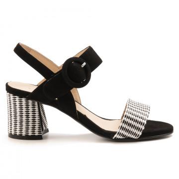 sandals woman carmens 45107rabat nero 6942