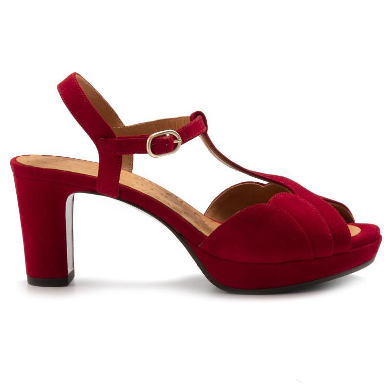 sandals woman chie mihara numbaante rojo 6946