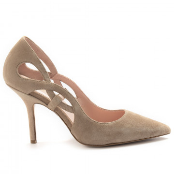 pumps woman anna f 1210camoscio tortora 6841