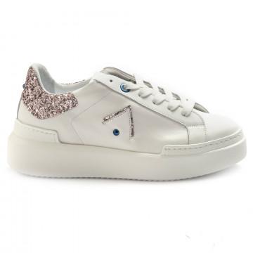 sneakers woman ed parrish ckld sq41bianco glitter 6881