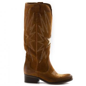 boots woman zoe tex400camoscio cuoio 6708