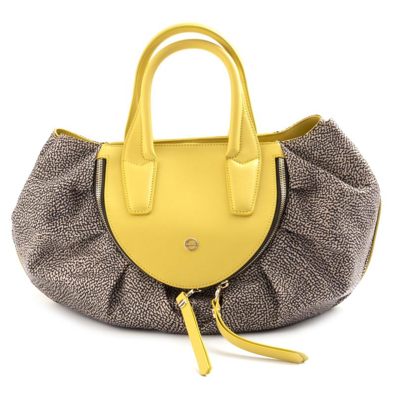 Yellow Leather Borbonese Michelle Handbag