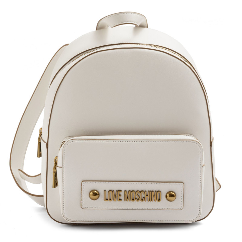 White Love Moschino backpack with gold logo