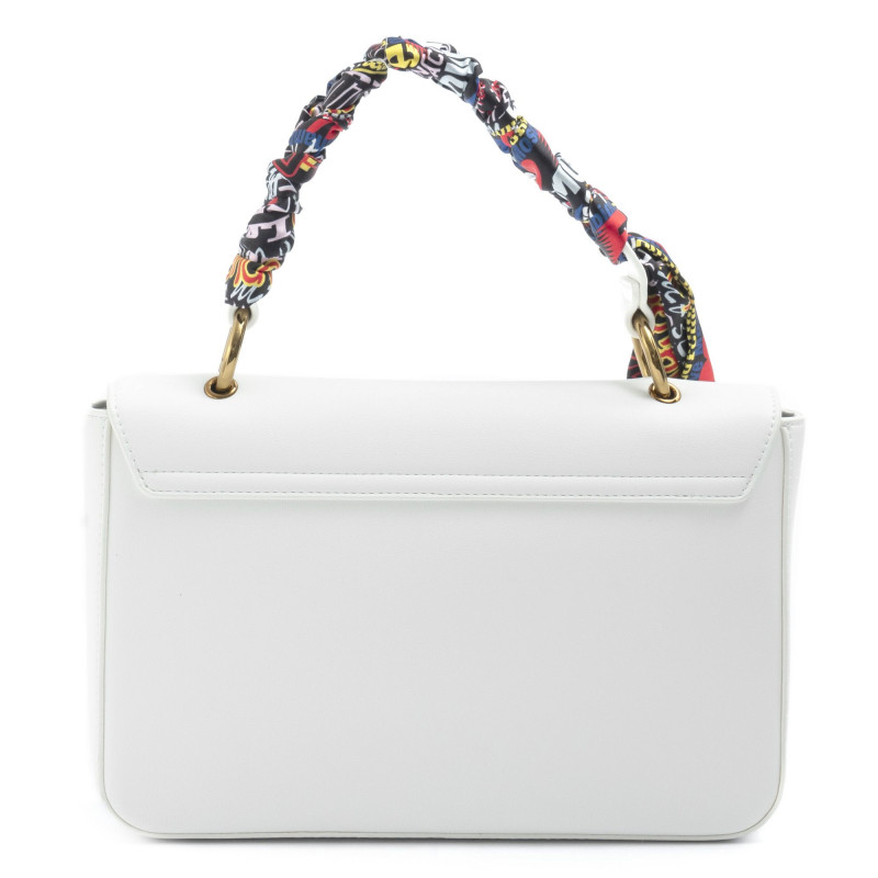 White Love Moschino Shoulder Bag With Logo