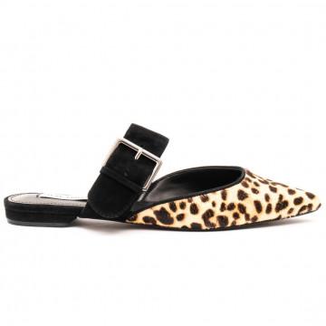 sandals woman steve madden smsedisonleopard pony 7016