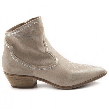 stiefeletten damen keb 100bsuede taupe 6840