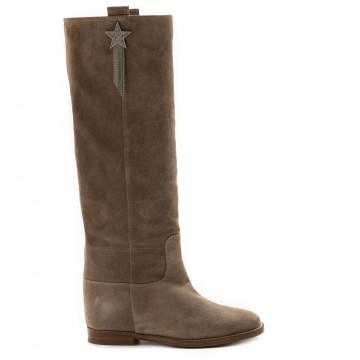 boots woman via roma 15 3326velour franco 6817