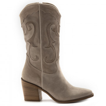 stiefel  boots damen keb 205suede taupe 6818