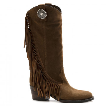 boots woman via roma 15 3259velour martora 6943
