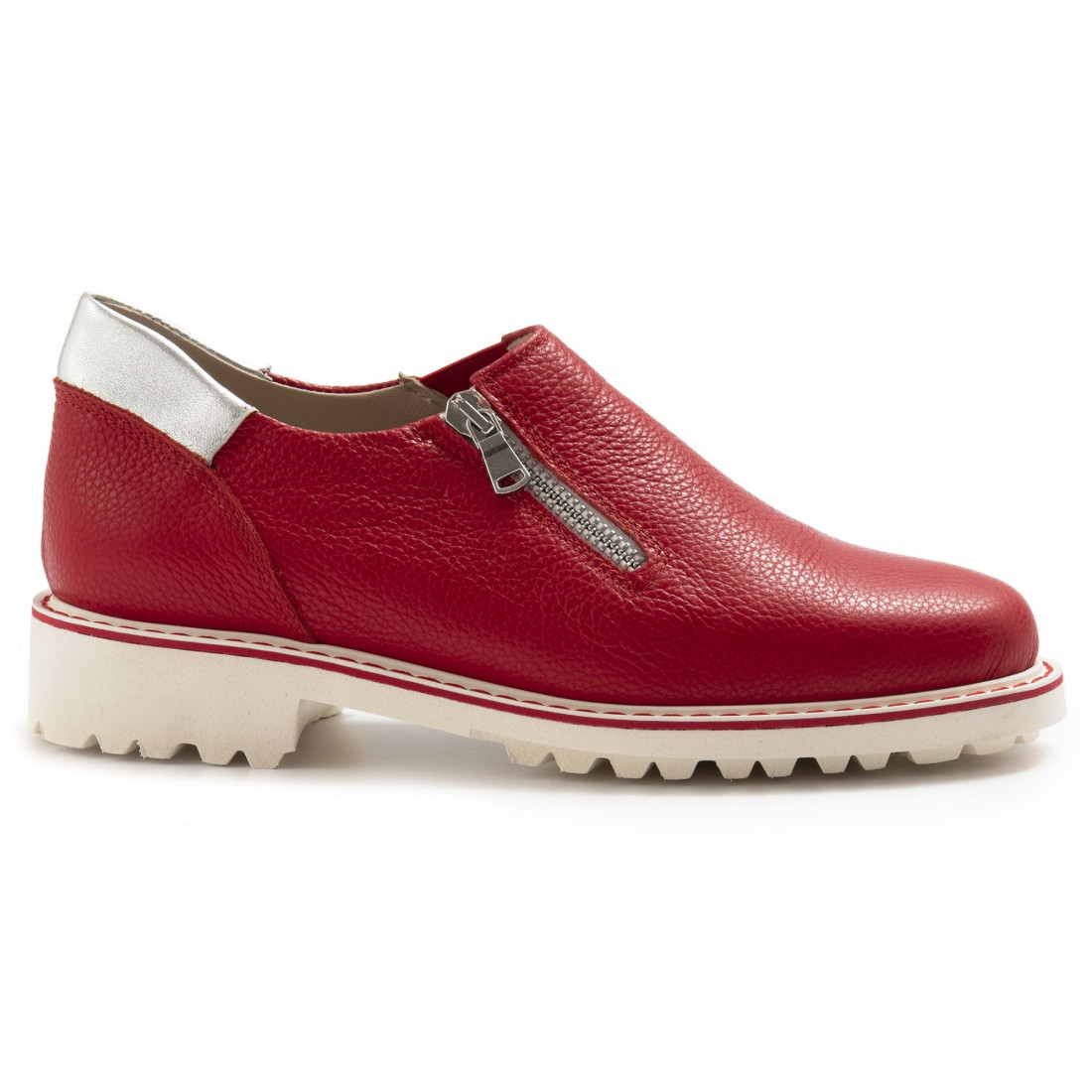 slip on woman sangiorgio 672681 rosso 7045
