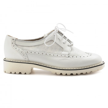 lace up woman sangiorgio 082681 bianco 7051