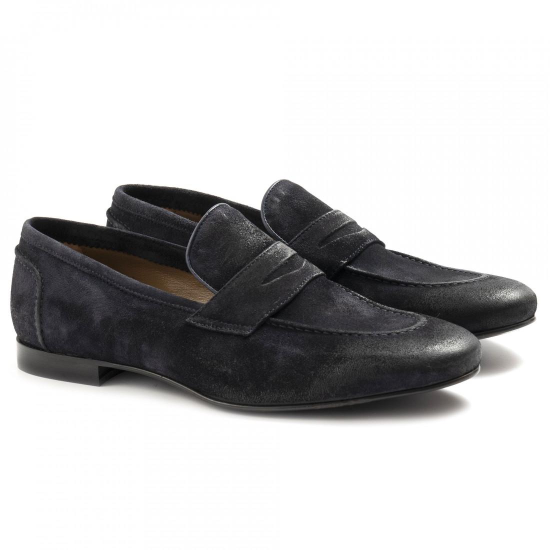 loafers man sangiorgio 1022 5cam blu 6846