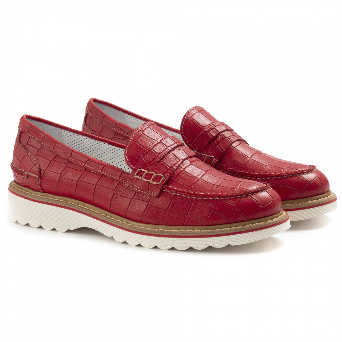 loafers woman alfredo giantin 6636cocco rosso 7123