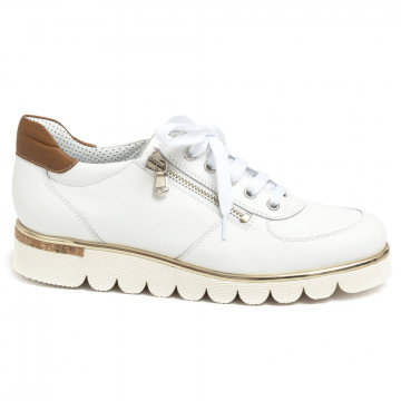lace up woman alfredo giantin 6623pony bianco 7183