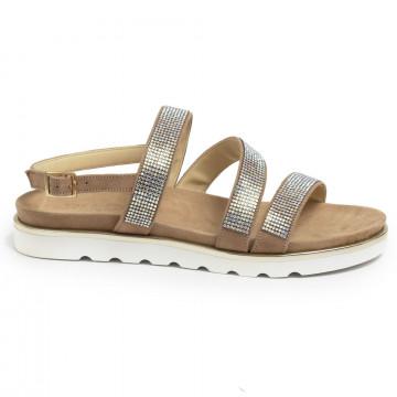 sandals woman nu n 484camoscio camel 7184