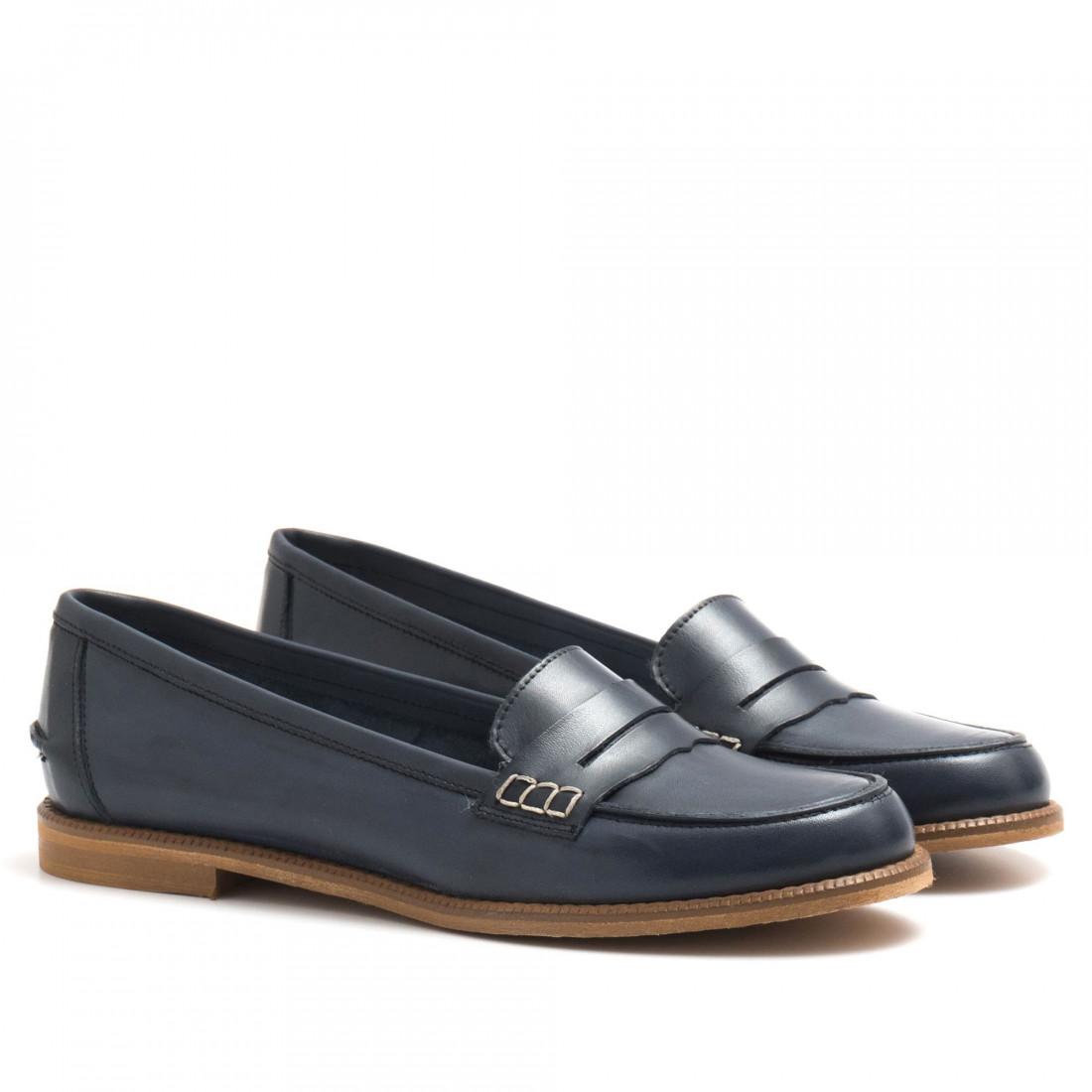 loafers woman sangiorgio 7340crust blu 4410