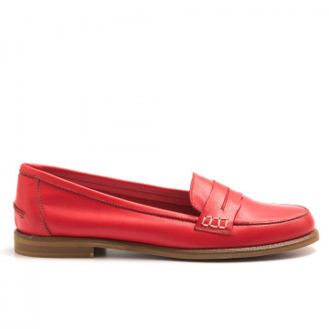 loafers woman sangiorgio 7340crust rosso 4412