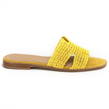 sandals woman fiorina  s189454 rafia giallo 7286