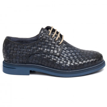 lace up man brecos 9459vitello azzurro 7260