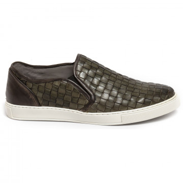 slip on man brecos 6047vitello verde 7333