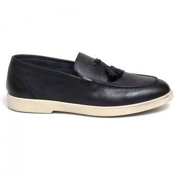 loafers man brecos 9529crust blu 7334