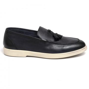 loafers man brecos 9529crust blu 7334