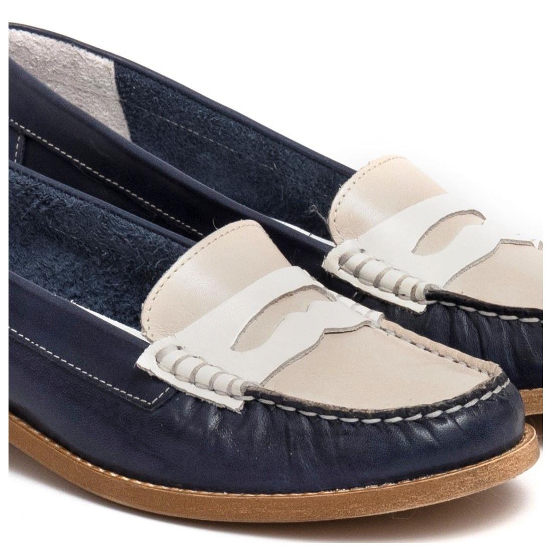 loafers woman sangiorgio 2593laura blu marmo 7342