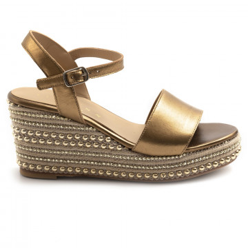 sandals woman fiorina  s182491 lam bronzo 7372